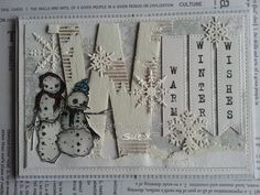 Artwork created by Sue Jennings using rubber stamps designed by Daniel Torrente for Stampotique Originals