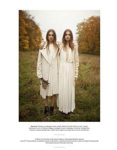 visual optimism; fashion editorials, shows, campaigns & more!: fees d'hiver: elena lazic and manuela lazic by christophe rihet for be februa...