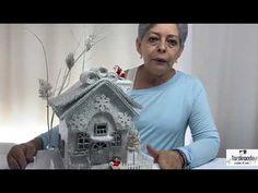 VILLA NAVIDAD BLANCA - único vídeo. - YouTube Little Christmas, Christmas Home, Cardboard Crafts, Lily, Miniatures, Outdoor Decor, House, Painting, Youtube
