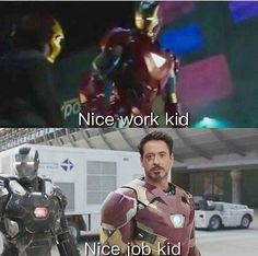 Did you know that it has been confined that the little kid dressed up as Iron Man to is Peter Parker???