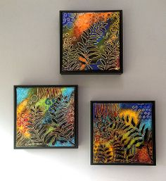 Framed fused glass panels by Jeff & Jaky Felix / Joyful Imagination Glass