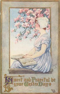 Alenquerensis: Clara Miller Burd , Postais de Páscoa datados de 1914 - Clara Miller Burd, Easter Postcards from 1914