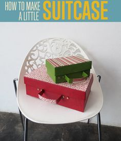 Want a cool weekend DIY project for kids and teens? Check out our quick and easy tutorial on how to make a mini recycled cardboard suitcase.