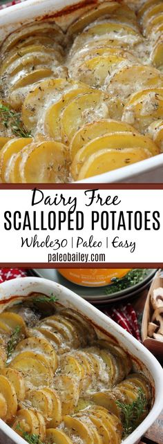 Scalloped Potatoes with Mushroom & Rosemary: Paleo, Whole30, Dairy Free!