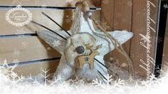 Lavenderia - decoupage i inne: Gwiazda z Reniferem Decoupage, Christmas Ornaments, Holiday Decor, Home Decor, Decoration Home, Room Decor, Christmas Jewelry, Christmas Decorations, Home Interior Design