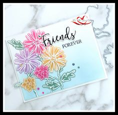 ~For The Love of Stamping~: Friends Forever - Color & Contour Color Contour, Color Card, Colour, Friends Forever, Emboss, Stampin Up, Card Making, Bloom, Paper Crafts