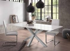 Tavoli per Sala da Pranzo : collezione ARYA Piede bianco