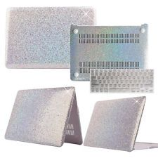 """Shiny Silver Glitter Hard Case + Keyboard Cover For Macbook Air Pro 11""""12""""13""""15"""""""