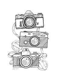 Resultado De Imagen Para Imagenes De Camaras Faciles Para Dibujar Camera Art Art Art Sketches