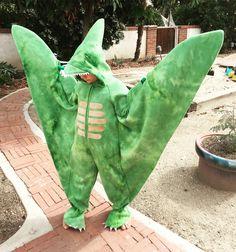 Pterodactyl costume. Flying dinosaur costume. Girl Dinosaur Costume, Dinosaur Halloween Costume, Dino Costume, Dinosaur Dress, Bear Halloween, Dinosaur Party, Halloween 2017, Holidays Halloween, Costume Ideas