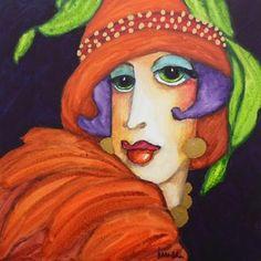 Face Doodles, Mary Martin, Small Canvas Paintings, Paul Gauguin, Naive Art, Digi Stamps, Paint Party, Portrait Art, Figure Painting