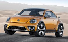 This is the Volkswagen Beetle Dune Concept which may be presented tomorrow in Detroit.Volkswagen is going to revive the prototype after 14 years, since 2000 that the Beetle Dune Concept was firstly presented. Vw Bus, Volkswagen New Beetle, Vw Camper, Ferdinand Porsche, Kdf Wagen, Detroit Auto Show, Buggy, Car And Driver, Vw Beetles