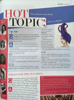 Press feature in London Weddings Mag!  We are very excited to be featured in London Wedding Magazine this month, katherine is giving advice on the best hat to wear, is there a style to suit everyone? Yes there is!!!!  http://www.katherineelizabethmillinery.com/  #Londonweddingmagazine #hats #millinery #fashion #luxury #wedding #london #press #feature #mag