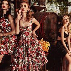 Country chic in between the flowers and wine barrells #DGTropicoItaliano #DGWomen Photo by @nimabenati Hair by @chiarabonacina Makeup by @_nicologrossi_