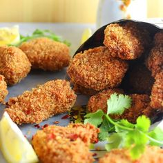 Sweet & spicy, homemade Lemongrass and Wasabi Asian style Chicken nuggets with a Vietnamese Nam Jim dipping sauce. Easy to make and full of great flavor!