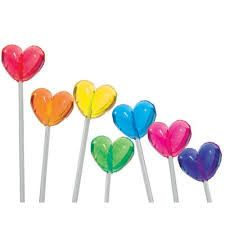 Rainbow Heart Lollipops - so sweet. Taste The Rainbow, Rainbow Heart, Over The Rainbow, Fondant Au Caramel, Mahal Kita, Rainbow Lollipops, Rainbow Candy, Rainbow Treats, Rainbow Connection