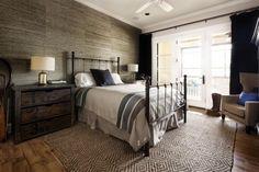 wandgestaltung tapete steinoptik schlafzimmer vintage stil