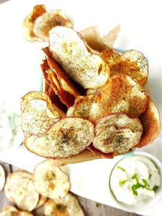 ... the boring chips and dip, have Baked Dill and Onion Potato Chips
