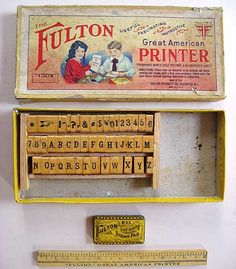 printer set from the 1920's.   so cute!
