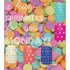 """Monday Jamberry Sprinkles"" To shop, please go to  http://kelseyjooie.jamberrynails.net"