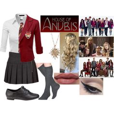 house of anubis Cute Teen Outfits, Outfits For Teens, Girl Outfits, House Of Anubis, Harry Potter Outfits, School Uniform Girls, Polyvore Fashion, Style Inspiration, Girl Clothing
