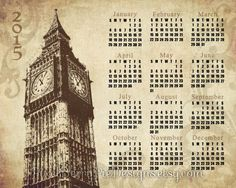 Shop for on Etsy, the place to express your creativity through the buying and selling of handmade and vintage goods. Big Ben, London Landmarks, File, Vintage London, New Years Sales, Christmas Sale, Printable Art, Goodies, Calendar