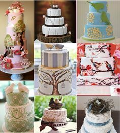 Bird Inspiration. Why do I like nests at the top of wedding cakes so much?