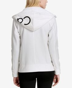 Calvin Klein Performance Logo Zip Hoodie, a Macy's Exclusive Style - Ivory/Cream XXL