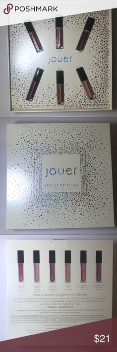 Jouer Best Of Metallics Lip Creme Set Brand new in box - limited edition Makeup Lipstick