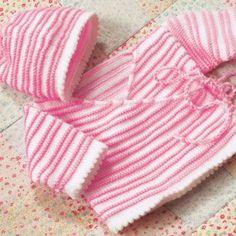 We Like Knitting: Baby Wrap Jacket & Hat - Free Pattern