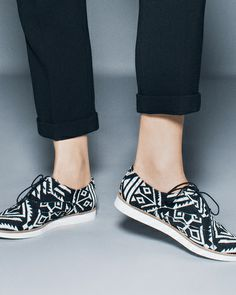 Tribal oxfords