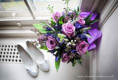 Wedding flowers and shoes http://www.thestudio-mickleover.co.uk