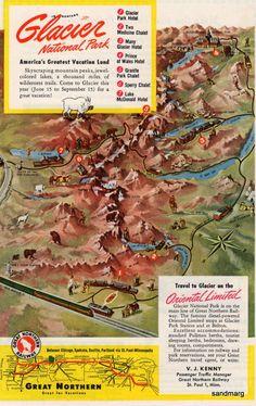 Map of Glacier National Park