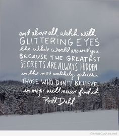 Roald Dahl image quote