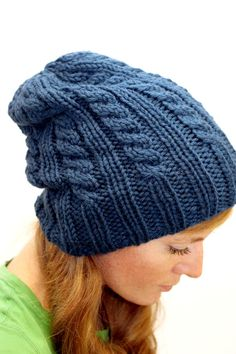 KNITTING PATTERN // Elizabeth hat // cable rib chunky toque -- PDF