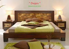Hochwertiges Bambusbett aus der Kollektion Dream in Crushed Bamboo