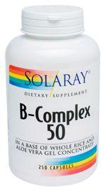 Solaray                             B-Complex 50 MG, 250.0 Each , Capsules