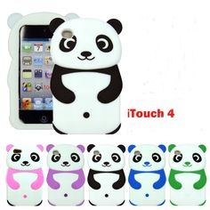 iPod Touch 4 4th Gen Cute Panda Bear Silicon Rubber Skin Cover, fun animal friends in silicone protect your iPod touch. It is Easy access to all ports, controls and connectors.