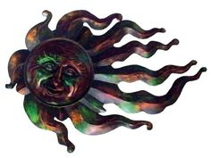 Very Cool Stuff FS24 Flaming Sun, 24-Inch by Very Cool Stuff. $44.73. Flaming sun. Use for indoor or outdoor wall decor. Measures 24-inch diameter. Great gift idea. Made of metal. This flaming sun is made of metal. Use for indoor or outdoor wall decor it is great gift idea. Measures 24-inch diameter.