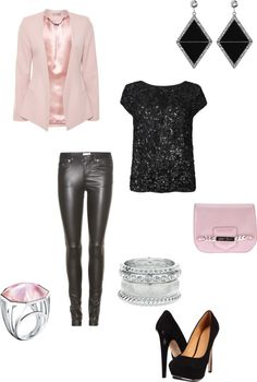 jimmy c and pink sparkle. by kristenblackburn on Polyvore.