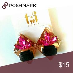 SALE! Crystal Triangle Earrings Final offer!  18K Gold Plated Crystal, Classic Style earrings! Nickel and Lead Free. T&J Designs Jewelry Earrings