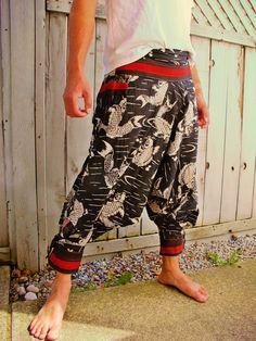 Big Koi Fish Hill Tribe Pants Unisex SM3KF by Siamurai on Etsy