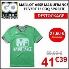 #missbonreduction; 27,60€ de remise sur le MAILLOT ASSE MANUFRANCE 15 VERT LE COQ SPORTIF. http://www.miss-bon-reduction.fr//details-bon-reduction-Go-sport-i855632-c1833164.html