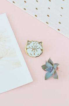 BLAH cat pin - kitty - meme enamel lapel pin