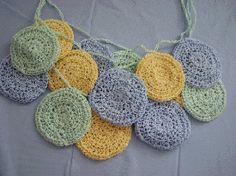 crochet jewelry patterns free | Layered Crochet Rnds Necklace Free Crochet Pattern
