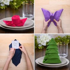 10 Wow-worthy Napkin folds that belong on the table. not on your lap! folding ideas 10 Wow-worthy Napkin folds that belong on the table. not on your lap! Diy Crafts Hacks, Diy Home Crafts, Cloth Napkins, Paper Napkins, Serviettes Roses, Paper Napkin Folding, Folding Napkins, Napkin Folding Video, Wedding Napkin Folding