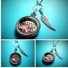 I CARRY YOUR HEART ( baby girl remembrance ) filled Living Memory Locket -