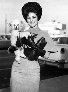 Priscilla Presley and her poodle friend