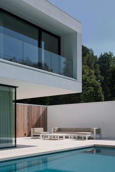 balcon - HS Residence par Cubyc Architects - Bruges, Belgique