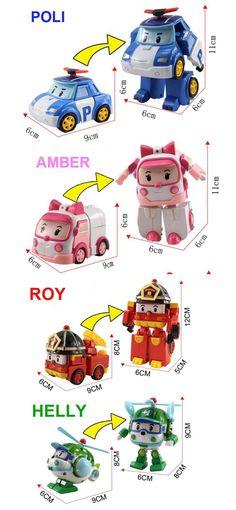 4 трансформируемые игрушки Poli Robocar